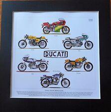 Classic Ducati Motocicletas obras de arte impresionante impresión