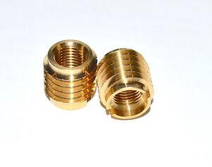 E-Z Lok Threaded Insert, Brass, Knife Thread, #10-24 Internal Threads Pkg of 10