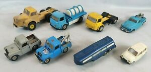 Lot 8 Vehicules Miniatures marque NOREV 1/43e Voitures Camion CARS Collection V3