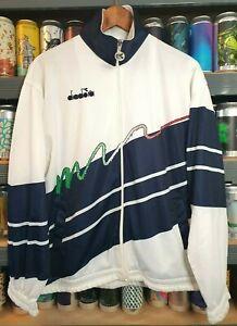Diadora Italy 1990 - 1992 Mens Medium Tracksuit Jacket Track Top Vintage Rare