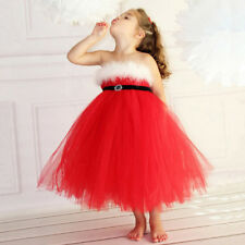 Christmas Toddler Girls Kids Tutu Dress Xmas Evening Baby Party Prom Ball Gown