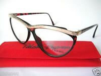 Paloma Picasso Small 57-10 Bag Eyeglass Glasses Womens Bifocal Parfum Cat Eyes
