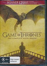Game Of Thrones Complete Fifth Season DVD NEW Region 4