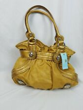 Kathy Van Zeeland Purse Handbag Mustard Satchel Shoulder Delicious Belt Shopper