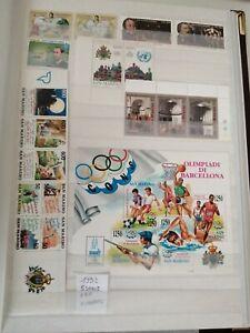 Francobolli San Marino 1992 Nuovi 5 Serie + 1 BF + 1 Libretto