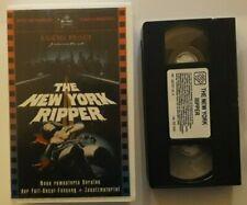 NEW YORK RIPPER / LUCIO FULCI / PRE CERT / PAL VHS / UNCUT GERMAN ASTRO RELEASE