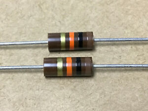 (2 PC) AB  RC32GF103J  Resistor Carbon Comp 1W 10KOHM  5%  NSN# 5905-00-279-1719