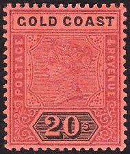 Gold Coast 1894 WMK CROWN CC 20/- SG25 VF MLH FULL OG-SUPERB CENTER/PERFS/GUM