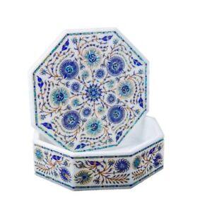 Marmor Schmuckkästchen Halbedelstein Lapis Pietra Dura Handmade