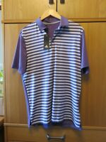 ADIDAS Men's Ultimate 365 Golf Polo Shirt FJ9967 - Purple Stripe - Size M - NEW