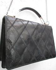 -AUTHENTIQUE   sac à main BERMA  cuir  reptile et croco vintage TBEG   bag 60's
