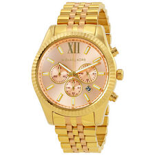 Michael Kors Lexington Rose Gold-tone Dial Ladies Chronograph Watch MK6473