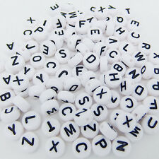100PCS DIY Random Alphabet/Letter Acrylic Cube Spacer Loose Beads Jewelry Making