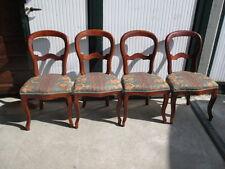 Gruppo di quattro sedie luigi filippo mogano restaurate e imbottite a nuovo!!