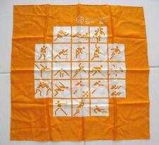 GAMES OF THE OLYMPICS MONTREAL 1976 JEUX DE LA XXI OLYMPIADE SILK SCARF