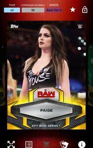 TOPPS WWE SLAM - Paige 50cc Gold Rush 2017 - DIGITAL CARD