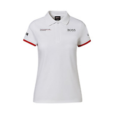 Porsche Driver's Selection Ladies Polo Shirt Hugo Boss (White)- Motorsport