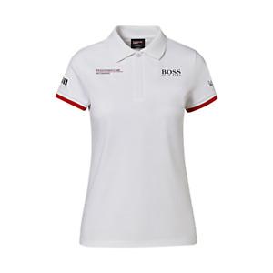 Porsche Driver's Selection Ladies Polo Shirt Hugo Boss (White)- Motorsport