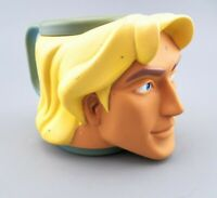 VTG Disney Pocahontas JOHN SMITH Mug 3-D Child Handled Cup by Applause 90's GUC