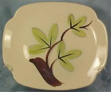 Woodleaf Platter Continental Kilns Pottery Mid Century Serving Green Leaves