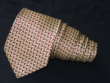 "Brioni MEN'S TIE YELLOW, RED/NOVELTY 3.75"" 59"" ITALY"