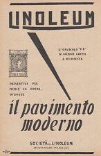 Z5293 LINOLEUM il miglior pavimento - Pubblicità d'epoca - 1926 old advertising