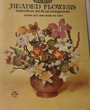 1967 Walbead Beaded Flowers Instructions and Floral Arrangements Book No. 48N