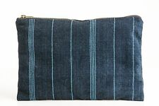 Vintage Indigo Zip Clutch Made In Guatemala