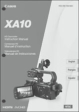 Canon Xa10 Hd Camcorder User Instruction Guide Manual