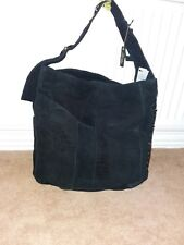 BNWT River island Black suede studded underarm Slouch Bag Height 36 width 34cm