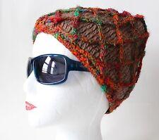 Nepali Himalayan woolen Hand knit net style woolen fleece lined beanie hat