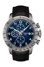 * NEW* Tissot Men's V8 Automatic Chrono Black Leather Watch T1064271604200 HOT