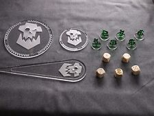 Warhammer 40K 40000 Blast Templates, Dices, Tactical Bundle Ork Stompa Orc Orkz
