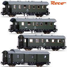"""Roco 54201-S4 H0 Personenwagen """"Donnerbüchse"""" der DR 4er-Set ++ NEU & OVP ++"""