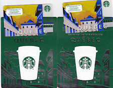 STARBUCKS QUEBEC CANADA 2015 ---0--- VALUE RECHARGEABLE Gift Card