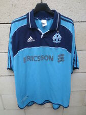 Maillot OLYMPIQUE de MARSEILLE Adidas 2001 OM away shirt maglia vintage trikot L