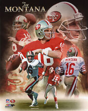 San Francisco 49ers JOE MONTANA Glossy 8x10 Photo Collage Print NFL Poster