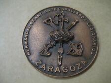 MEDALLA BRONCE HERMANDAD ANTIGUOS CABALLEROS LEGIONARIOS DE ZARAGOZA. LA LEGION