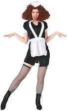 Da Uomo Donna Magenta Maid Rocky Horror Halloween addio al celibato nubilato fare Costume Vestito