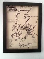 BABE RUTH*Jenny Hann*Tour*1973*ORIGINAL*POSTER*AD*FRAMED*FAST WORLD SHIP