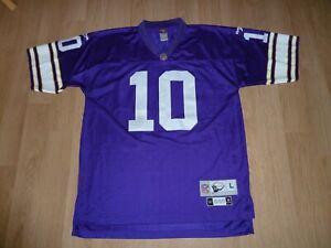 NFL Reebok Minnesota Vikings Fran Tarkenton #10 Jersey US Size Large Classic