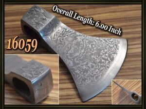 "6.0""Custom made Damascus steel hatchet axe head ,knife making suppliers 16059"
