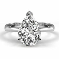 Verlobungs Diamant Ring 585 Weißgold Diamant 0,50 ct. R+ SI1 GIA zertifiziert
