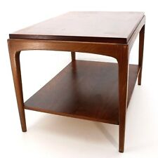 Vintage Lane Mid Century Danish Modern Wood End Side Coffee Accent Table