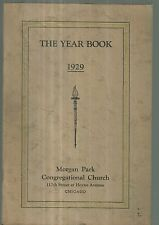 1929 Yearbook for Morgan Park Congregational Church in Chicago Beverly Local Ads
