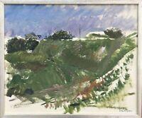 EXPRESSIONIST TORE NILSSON *1939 DÜNENLANDSCHAFT SCHWEDEN 42 x 50 cm MODERN ART