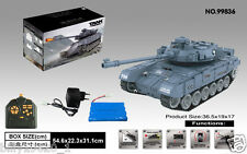Radio Controlled GREY RC tank T90 BB shooting Sounding Barrel Recoil 1/18 UK