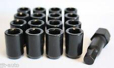 16 X M12 X 1.5 BLACK TUNER SLIMLINE WHEEL NUTS FIT FORD B MAX ESCORT FIESTA