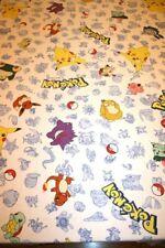 Pokemon Vtg Twin Flat Sheet 1998 Nintendo Springs Industries