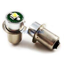2pcs  LED CREE Flashlights Bulb P13.5S 3W Replacement White for DC6-24V PR2 PR3